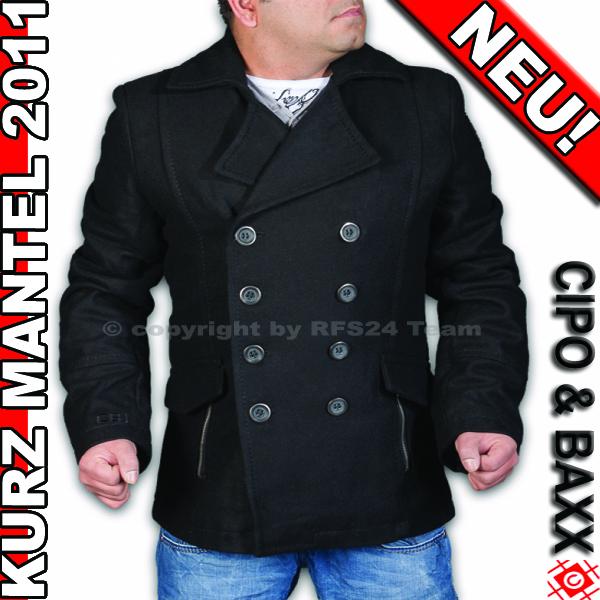 geiles cipo baxx herren kurz mantel jacke 2011 gr xl. Black Bedroom Furniture Sets. Home Design Ideas