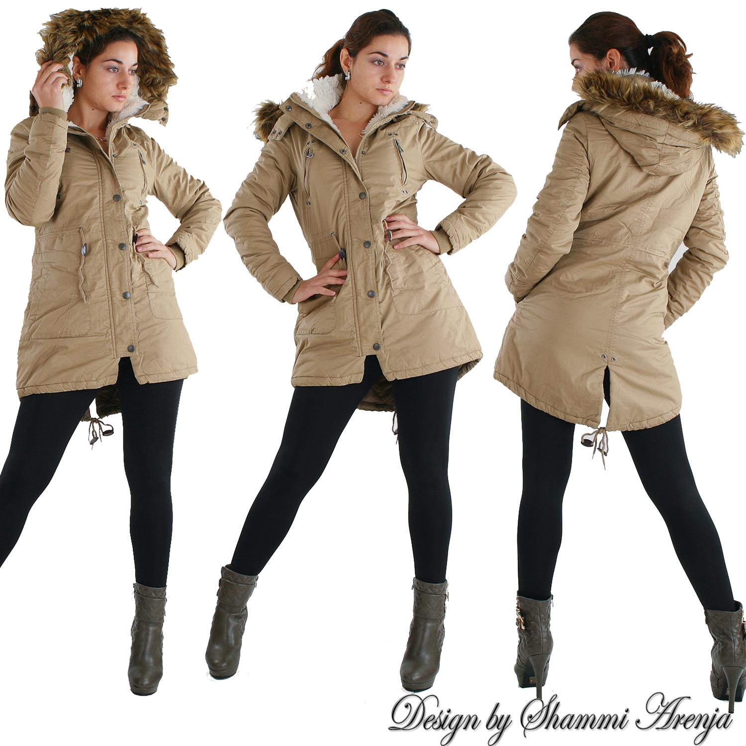 damen warmer parka winter jacke mantel outdoor. Black Bedroom Furniture Sets. Home Design Ideas