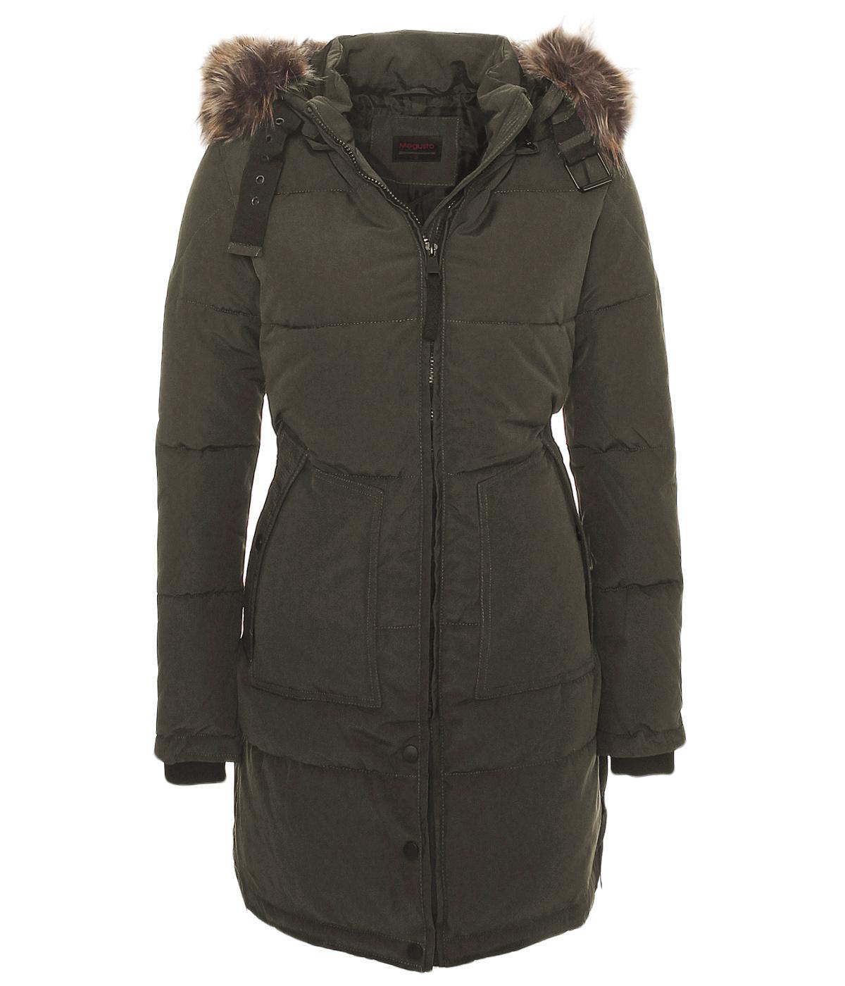 damen warmer wintermantel winter stepp mantel jacke lang parka kunstpelz dv 065 ebay. Black Bedroom Furniture Sets. Home Design Ideas