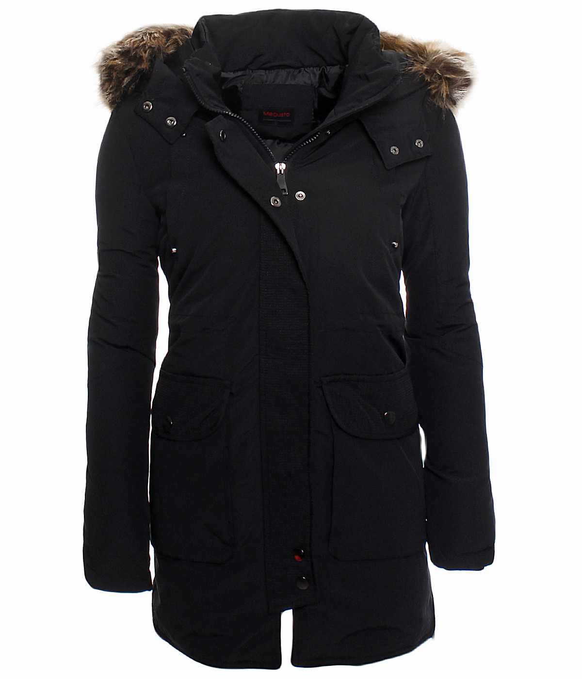 damen warmer wintermantel winter stepp mantel jacke lang parka. Black Bedroom Furniture Sets. Home Design Ideas