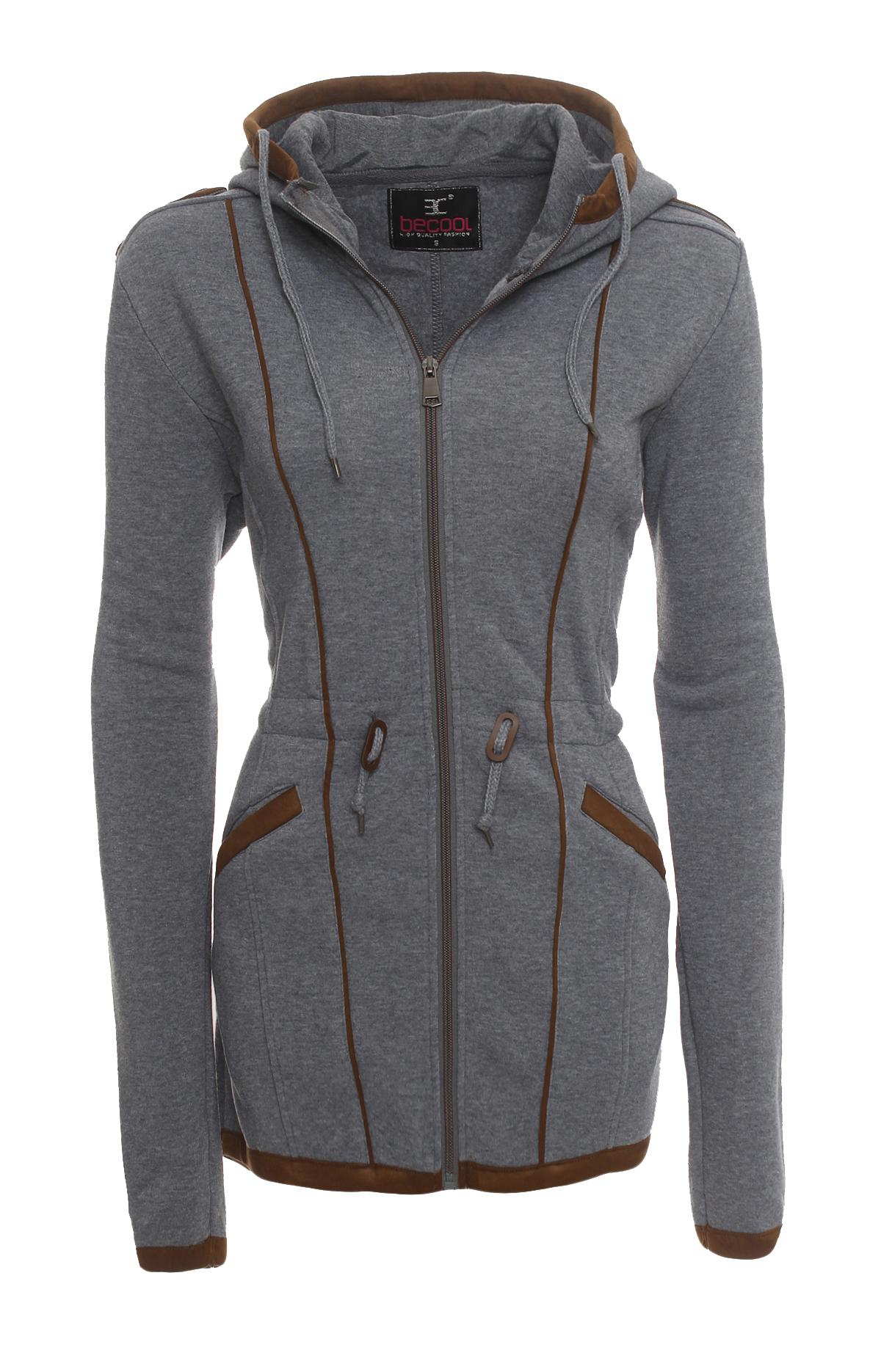 damen bergangsjacke herbst winter fleece sweatjacke kapuzen jacke mantel 1510 ebay. Black Bedroom Furniture Sets. Home Design Ideas