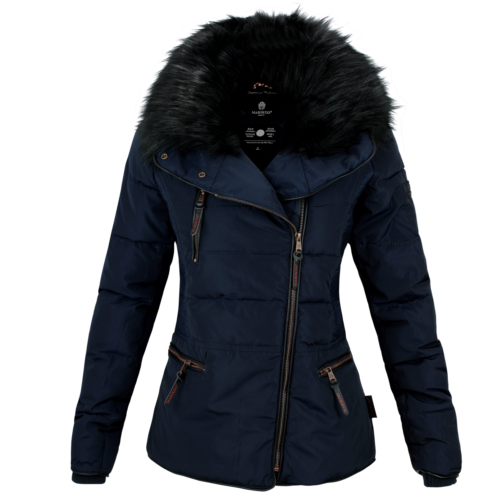 marikoo marta damen herbst winter kurz stepp jacke parka mantel warm gef ttert ebay. Black Bedroom Furniture Sets. Home Design Ideas
