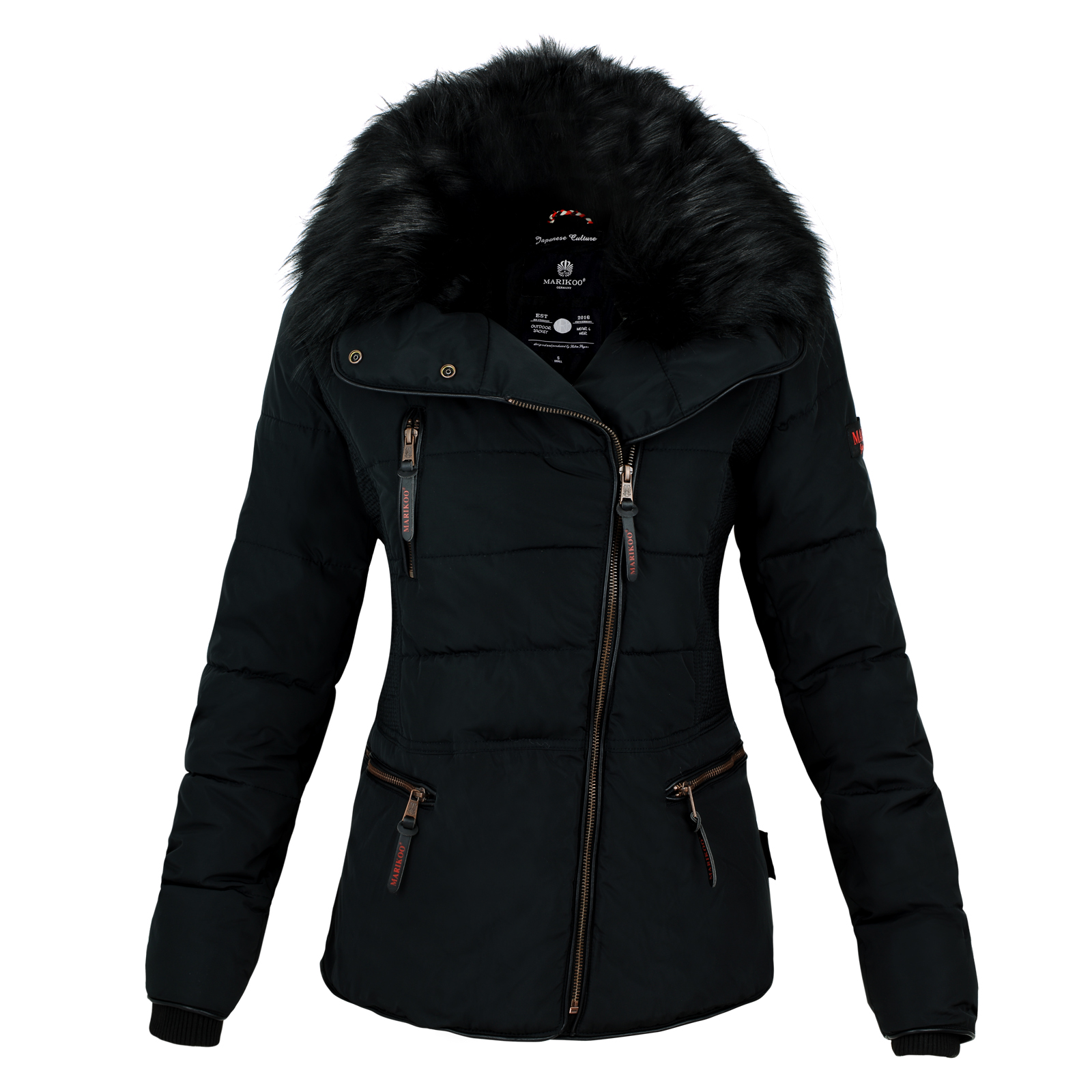 marikoo marta damen herbst winter kurz stepp jacke parka. Black Bedroom Furniture Sets. Home Design Ideas