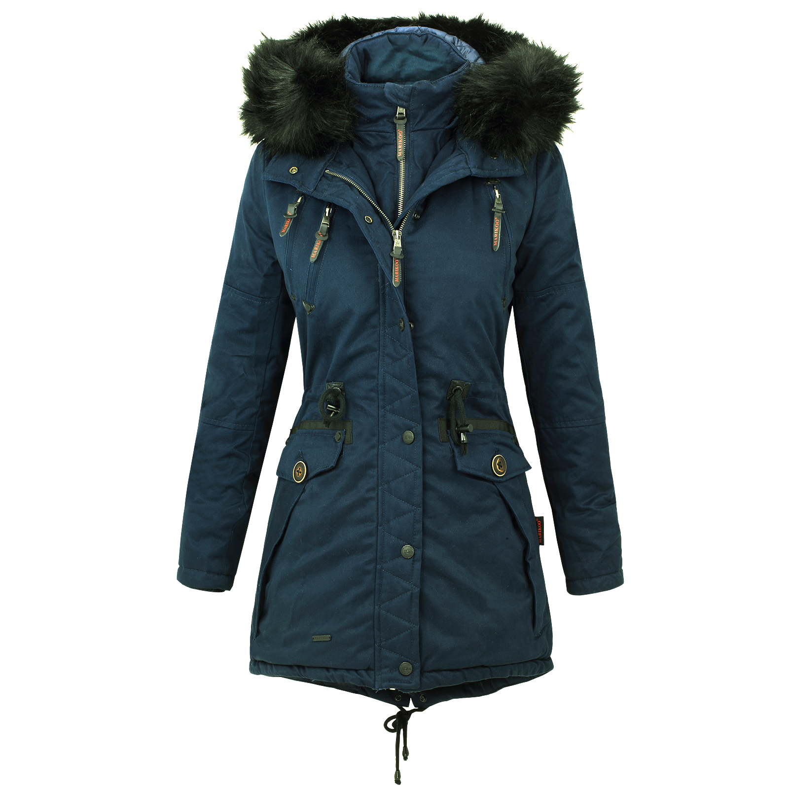 marikoo rose damen winter jacke stepp mantel parka. Black Bedroom Furniture Sets. Home Design Ideas