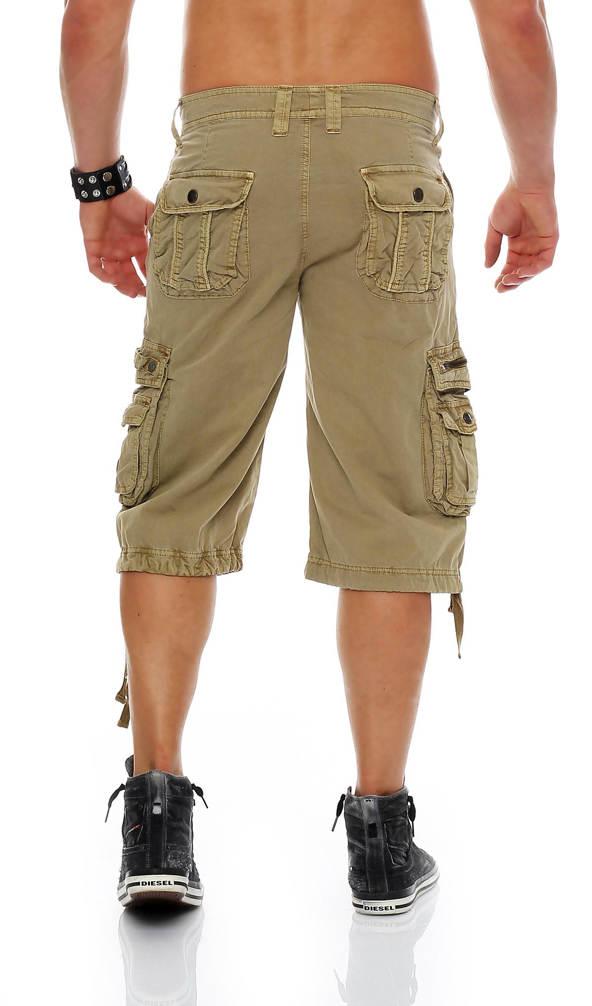 605 herren shorts freemen bermuda sommer cargo capri kurze. Black Bedroom Furniture Sets. Home Design Ideas
