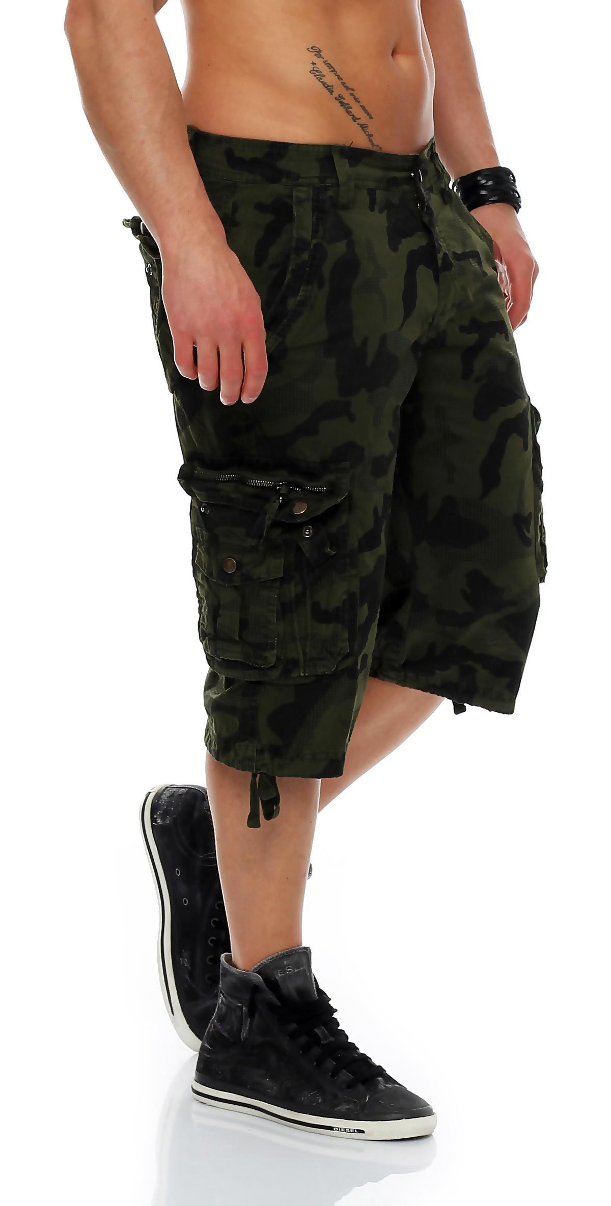 herren shorts kurze capri hose sommer 3 4 bermuda. Black Bedroom Furniture Sets. Home Design Ideas
